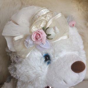 Other - Bridal christening special handmade baby headband